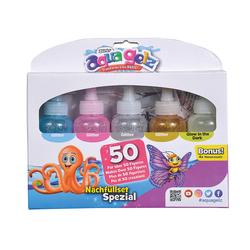 Set de recharges gels paillettes et phosphorescent Aqua Gelz