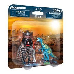 70693 - Playmobil Dino Rise - Duo Braconnier et vélociraptor