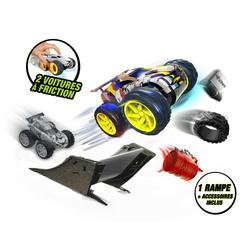 2 petites voitures friction + accessoires - EXOST JUMP - Pack duo – Modèle aléatoire
