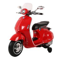 Moto électrique Vespa 12V rouge