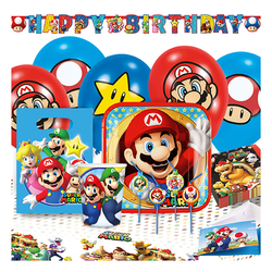Kit anniversaire Super Mario Party 8 personnes