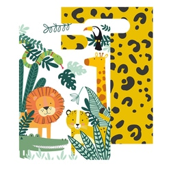 8 sachets en papier Jungle
