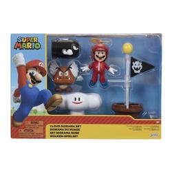 Coffret figurines Mario - Diorama du nuage
