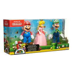 Mario - Coffret 3 figurines Nintendo thème Royaume Champignon