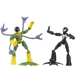 Pack 2 figurines 15 cm Spiderman et Doc Octopus - Bend and Flex Marvel Spider-Man