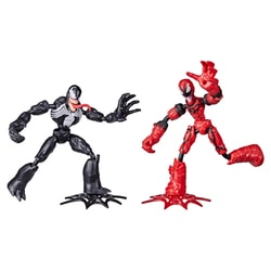 Pack 2 figurines 15 cm Bend and Flex - Spiderman
