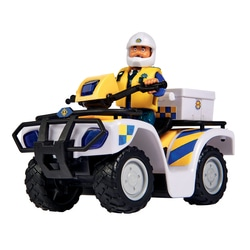 Quad de policier et figurine Sam le Pompier
