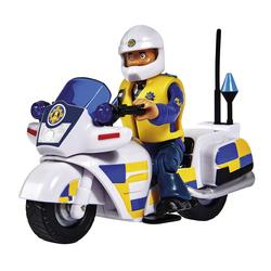 Moto de police et 1 figurine policier Sam le Pompier
