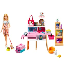 Barbie et son salon de toilettage pour animaux