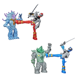 Pack 2 figurines Power Rangers Dino Fury Battle Attackers