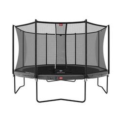 Trampoline Champion 380 gris avec filet Comfort