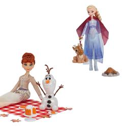 Poupée Elsa ou Anna avec ses amis - La Reine des Neiges 2