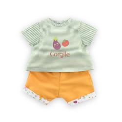 Ensemble t-shirt et bermuda pour Poupon Corolle 30 cm - Fête du potager