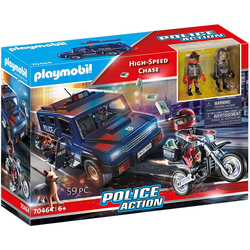 70464 - Playmobil City Action - Véhicule de police et moto