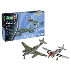 Maquette Model Set Combat ME262 & P-5 Mustang