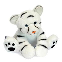 Peluche bébé tigre blanc 35 cm
