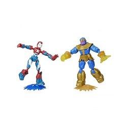 Figurines Bend & Flex Iron Patriot vs Thanos Marvel Avengers