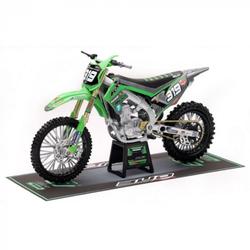 Moto Kawasaki Bud Racing Q. Prugnières 1/12 ème