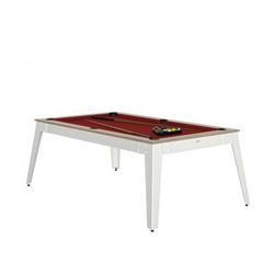 Billard Steel Oslob rouge + Plateau de table