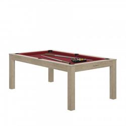 Billard Charme Oslo rouge + Plateau de table