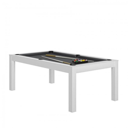 Billard Charme Blanc slate + Plateau de table