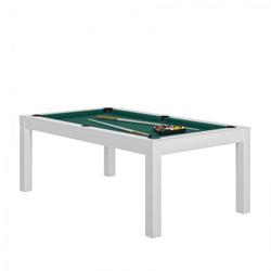Billard Charme Blanc vert + Plateau de table