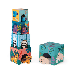 Pyramide en carton et figurines en bois - Partenariat WWF®