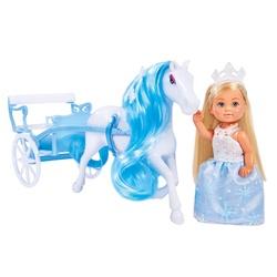 Poupée princesse Lolly kid avec poney et calèche
