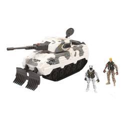 Char d'assaut des neiges et 2 figurines soldats
