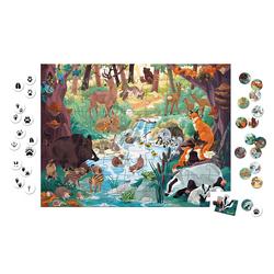 Puzzles empreintes des animaux 81 pièces - Partenariat WWF®