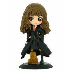 Harry Potter Q Posket Figurine Hermione Granger avec Pattenrond