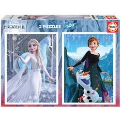 Puzzle 2 x 500 pièces Frozen