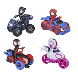 Figurine 10 cm et véhicule - Marvel Spidey And His Amazing Friends
