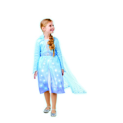 La Reine des Neiges - Déguisement Luxe Lumineux Elsa - 7/8 ans
