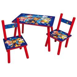 Table pour enfant avec 2 chaises - Pat Patrouille