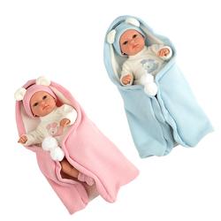 Poupon bébé 33 cm avec couverture