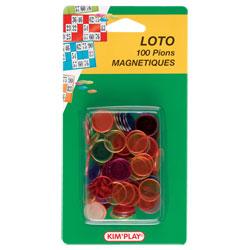 100 pions de loto magnétique