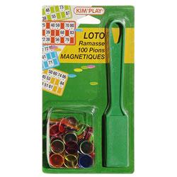 Kit loto : ramasse jetons et 100 pions