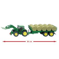 Tracteur et sa Remorques à Balles