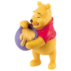 Figurine de Winnie l'ourson et son pot de miel