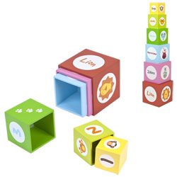 6 cubes gigognes jungle