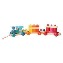 Train cubes géant color