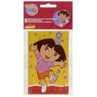 6 Invitations et enveloppes Dora