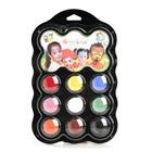 Palette de maquillage 9 couleurs carnaval
