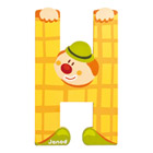 Lettre clown H