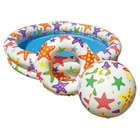 Set piscine 122 x 25cm + ballon + bouée
