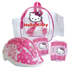 Sac à dos protections et casque Hello Kitty