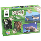 WWF : 4 puzzles photo animaux