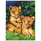 Peinture aux numéros les lionceaux