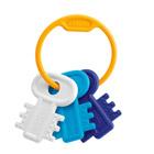 Hochet clés bleu